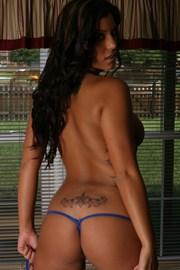 Briana Lee Tiny Blue Bikini - Picture 13